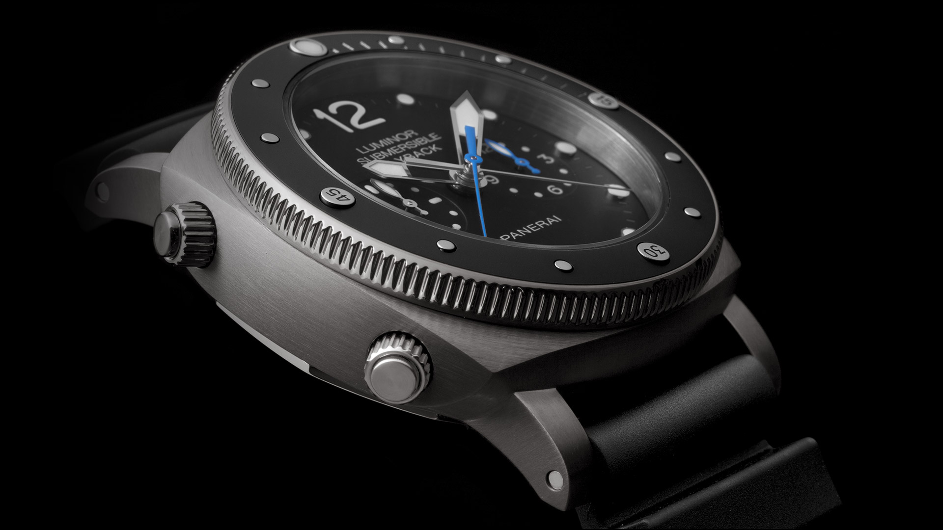 PANERAI LUMINOR SUBMERSIBLE 1950™ - 3 DAYS chrono flyback automatic titanio 47 mm - PAM00615