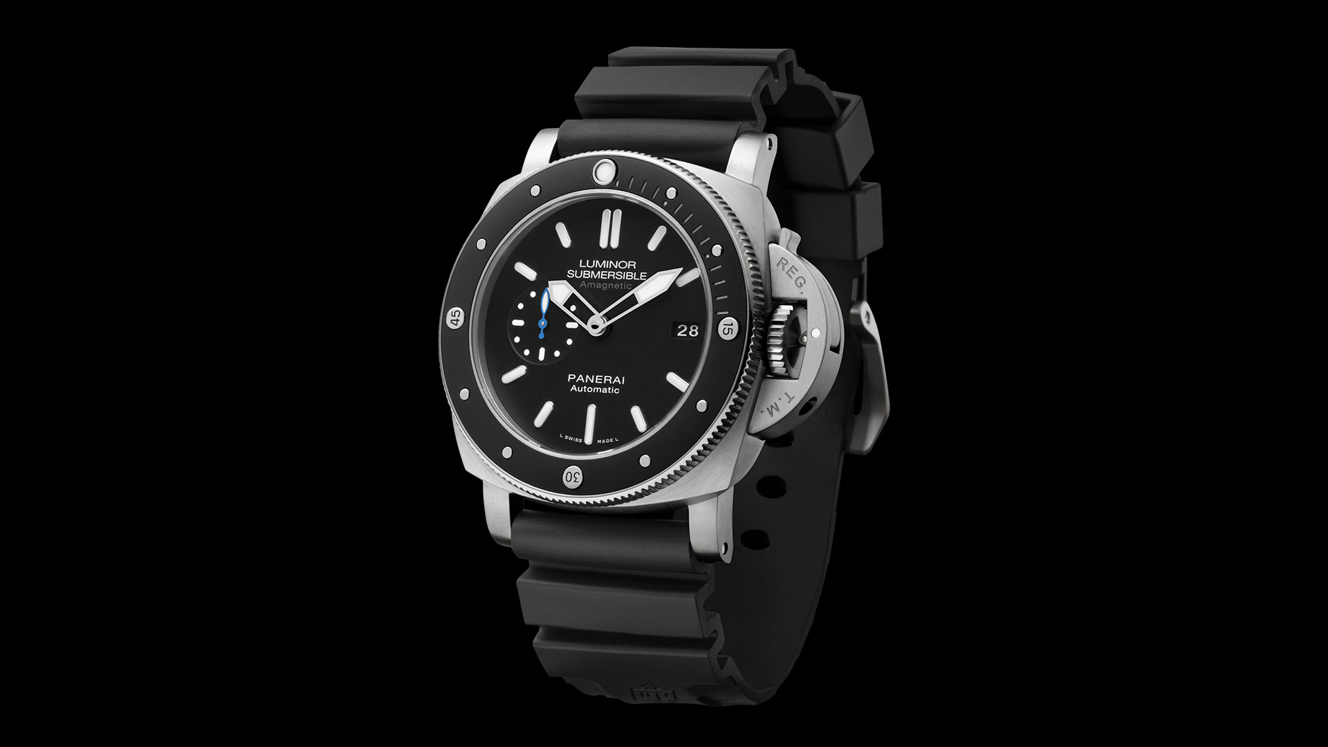 PANERAI LUMINOR SUBMERSIBLE 1950 AMAGNETIC - 3 DAYS automatic titanio 47 mm - PAM01389